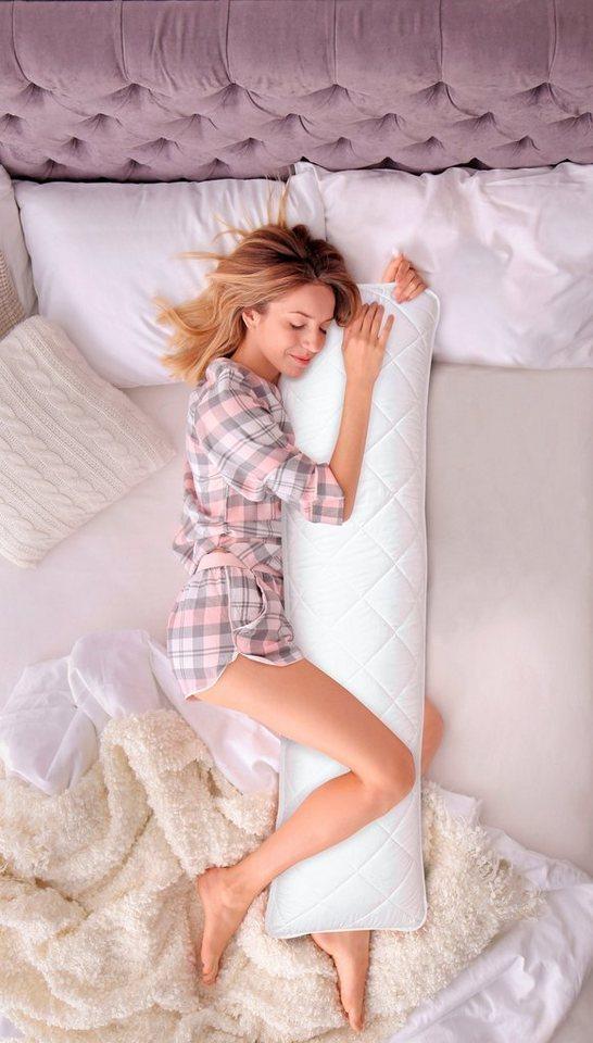DELAVITA Seitenschläferkissen »Memory+«, 1-tlg., sorgt für eine angenehme und rückenfreundliche Schlafposition.