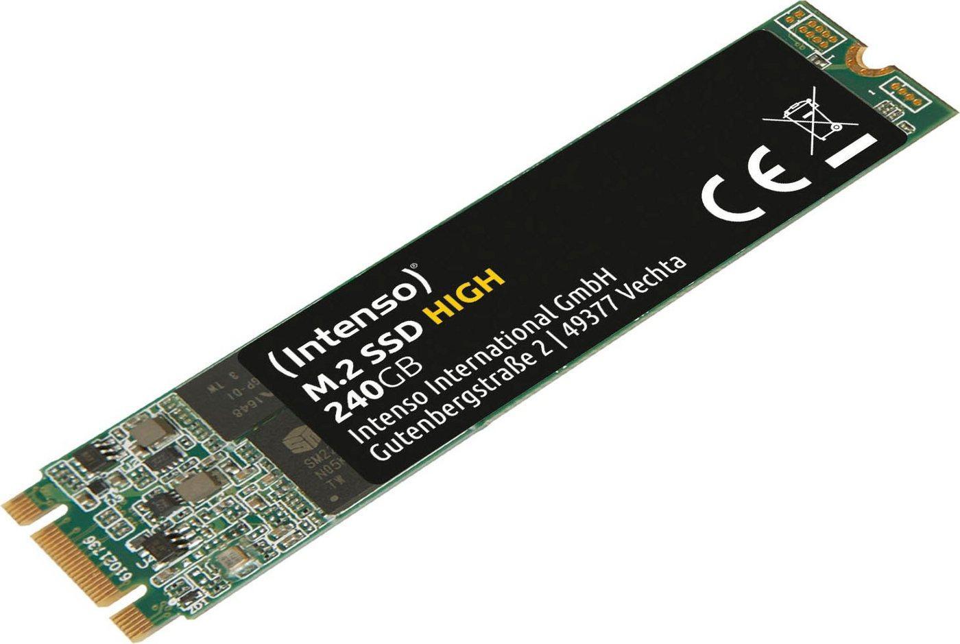 Intenso »M.2 SSD High« SSD-Festplatte (240 GB) 520 MB/S Lesegeschwindigkeit, 480 MB/S Schreibgeschwindigkeit)