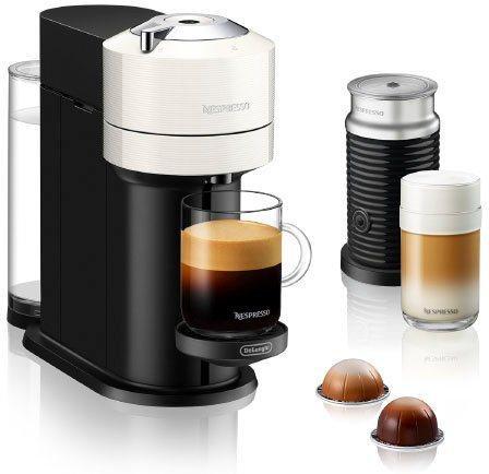 Nespresso Kapselmaschine ENV 120.WAE Vertuo Next, inkl. Aeroccino Milchaufschäumer, weiß