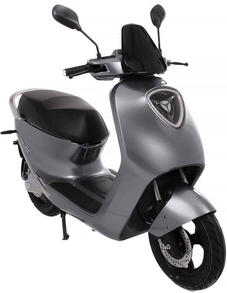 SXT Scooters E-Motorroller »yadea C1S«, 2200 W, 45 km/h, grau