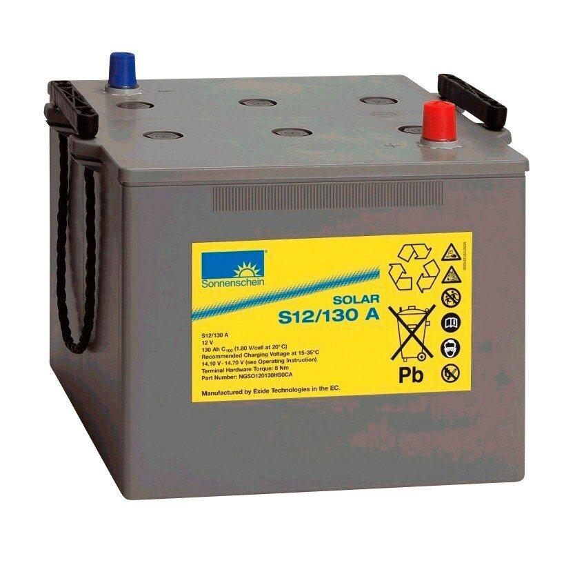 Sunset »Solar-Gel-Batterie 130 Ah« Solarakkus 90000 mAh (12 V), Zum Anschluss von Solarmodulen und Stromsets