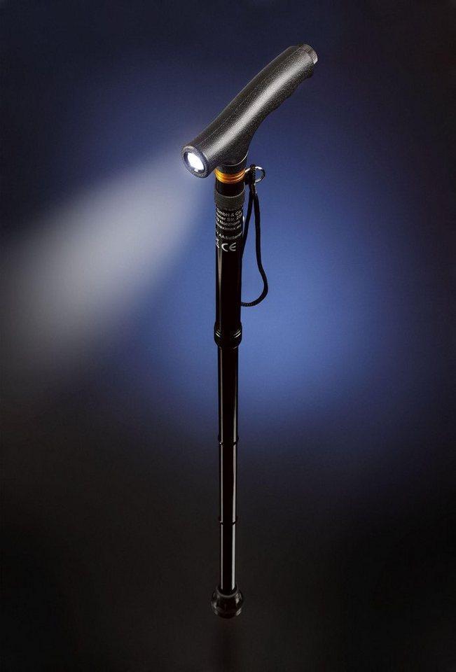 Maximex Gehstock »Faltbarer Gehstock mit Licht«