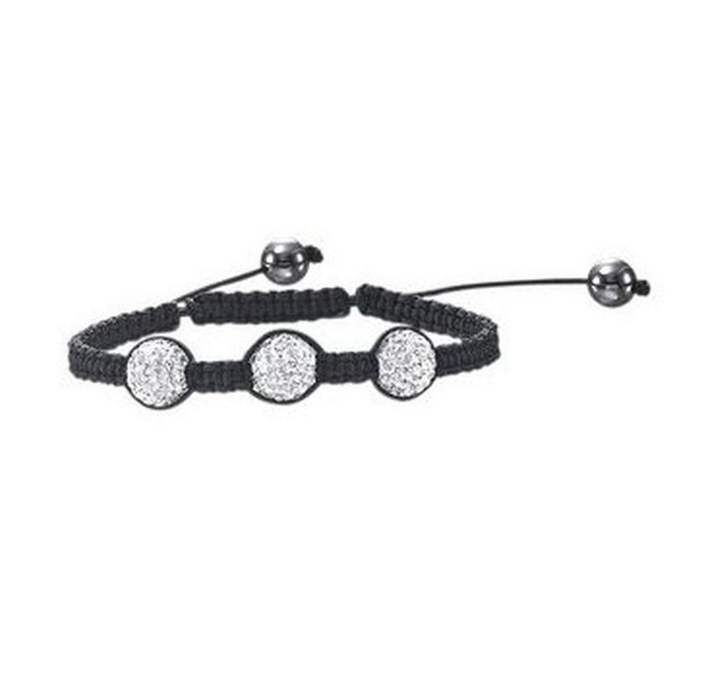 """Vivance Armband »""""Glamour Shamballa"""" Armband mit Kristallen in Makrame eingeflochten«, weiß"""