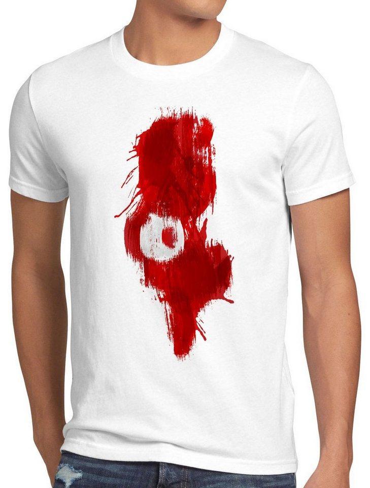 style3 Print-Shirt Herren T-Shirt Flagge Tunesien Fußball Sport Tunisia WM EM Fahne, weiß