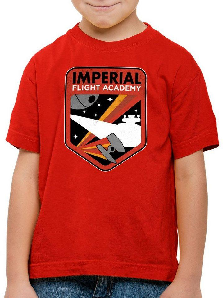 style3 Print-Shirt Kinder T-Shirt Imperial Flight sternenzerstörer tie, rot