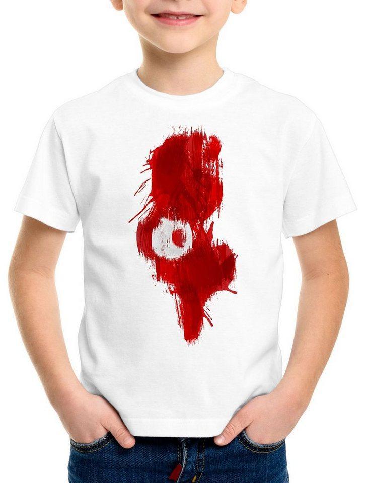 style3 Print-Shirt Kinder T-Shirt Flagge Tunesien Fußball Sport Tunisia WM EM Fahne, weiß