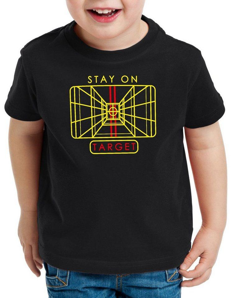 style3 Print-Shirt Kinder T-Shirt Stay on Target x-wing todesstern anflug