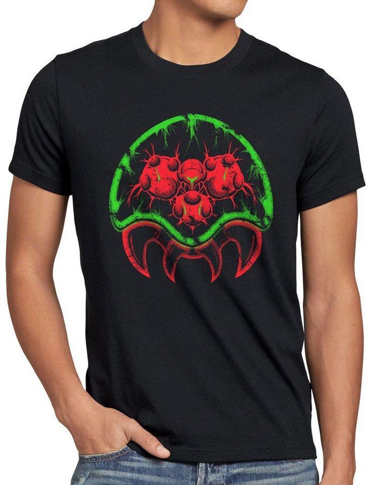 style3 Print-Shirt Herren T-Shirt Metroid Morph gamer snes samus aran switch