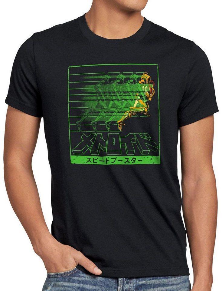 style3 Print-Shirt Herren T-Shirt Rapid Hunter metroid nerd gamer 3ds snes geek