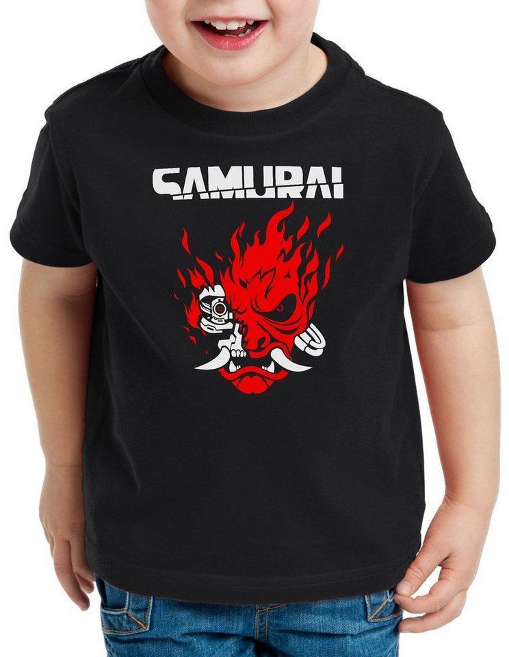 style3 Print-Shirt Kinder T-Shirt Cyberpunk Samurai cyberpunk band silverhand