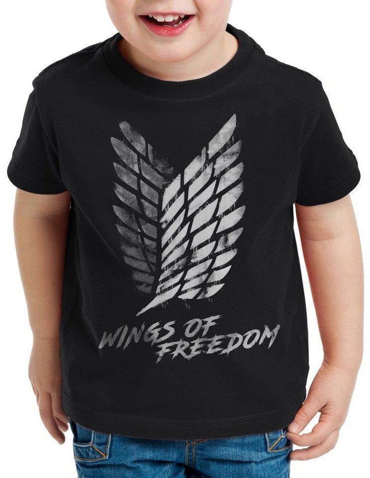 style3 Print-Shirt Kinder T-Shirt Wings of Freedom T-Shirt für aot attack aufklärungstruppe on titan
