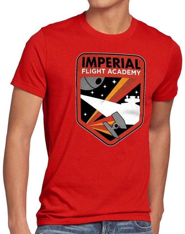 style3 Print-Shirt Herren T-Shirt Imperial Flight sternenzerstörer tie, rot