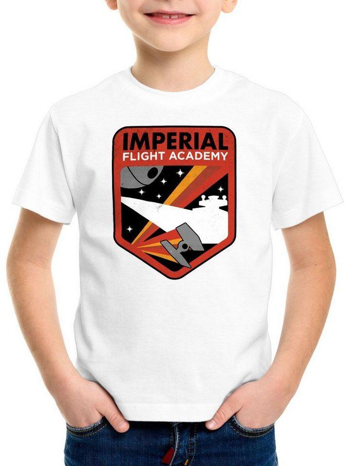 style3 Print-Shirt Kinder T-Shirt Imperial Flight sternenzerstörer tie, weiß