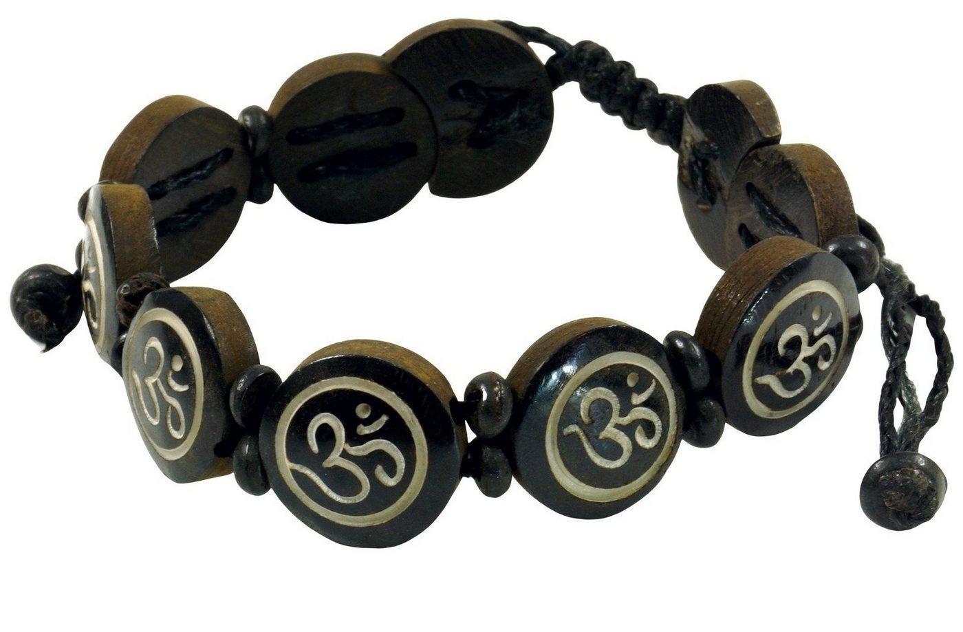Guru-Shop Armreif »Buddhistisches Armband OM - braun Modell 8«