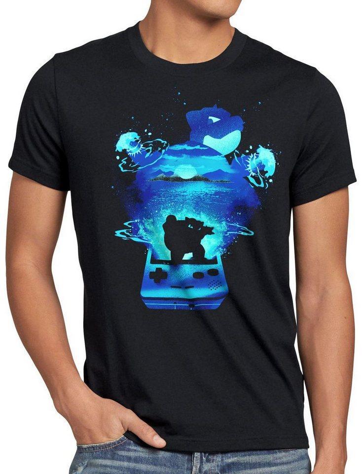 style3 Print-Shirt Herren T-Shirt Glumanda Gamer monster spiel online boy