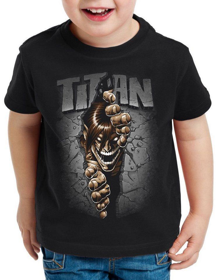 style3 Print-Shirt Kinder T-Shirt Titan Mauerdurchbruch japan anime AoT Titan on Attack