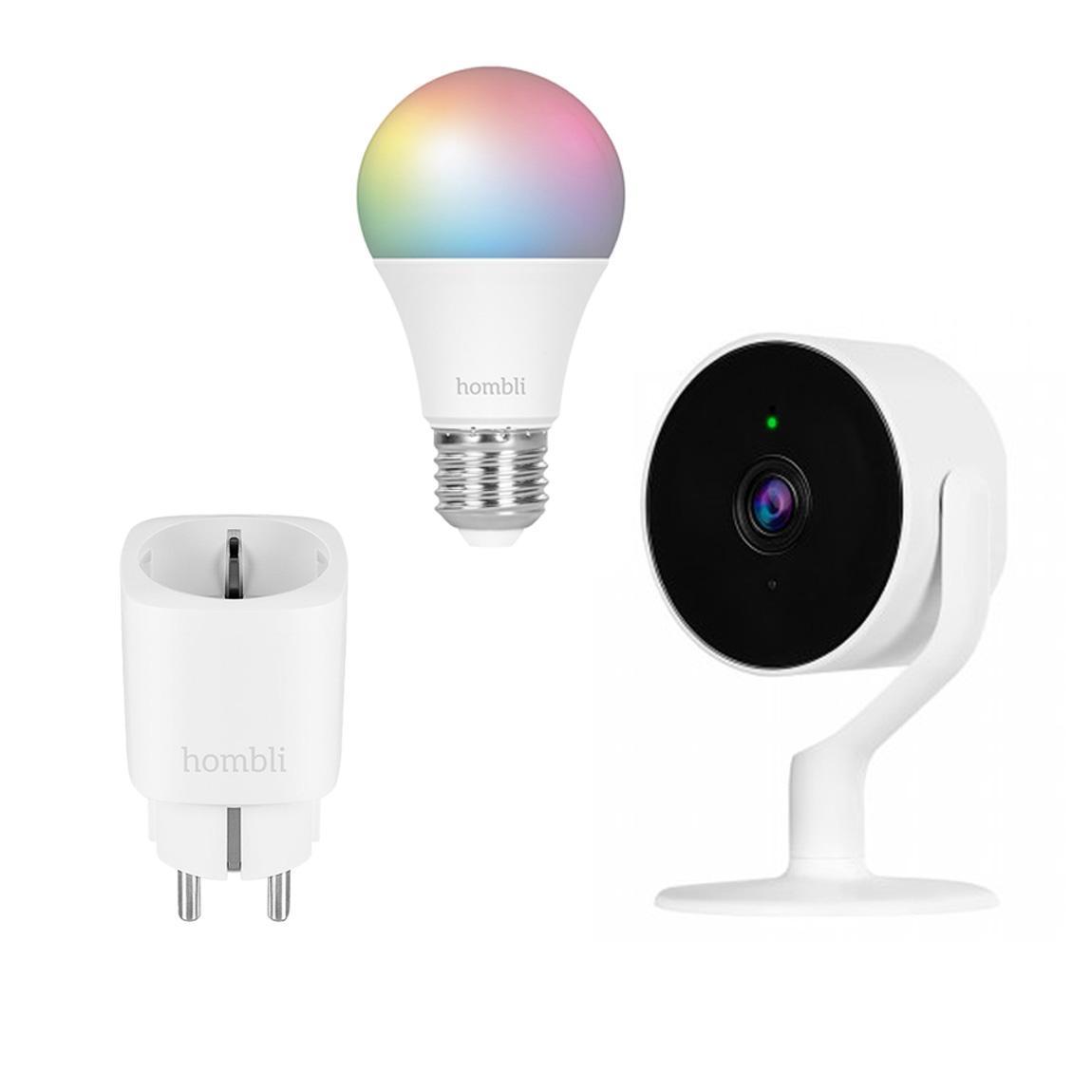Hombli Smarte Steckdose + Innenkamera + E27 Color-Lampe