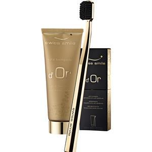 Swiss Smile Pflege Zahnpflege Golden Toothpaste d'Or Set Gold Toothpaste 75 ml + Toothbrush Gold 1 Stk.