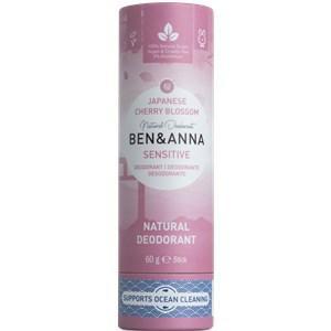 BEN&ANNA Pflege Deodorant PaperStick Natural Deodorant Stick Sensitive Japanese Cherry Blossom 60 g