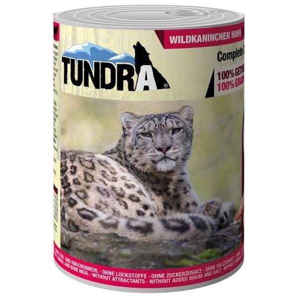 Tundra Katzenfutter Wildkaninchen & Huhn, Nassfutter - 400 g