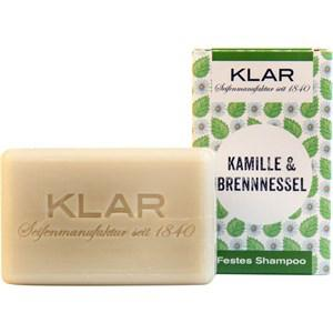 Klar Seifen Pflege Shampoo & Conditioner Festes Shampoo Kamille & Brennnessel 100 g