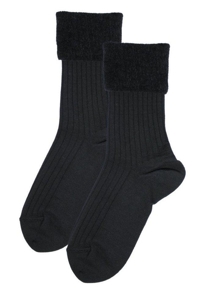 Rogo Socken (1-Paar) mit weichem Chenillerand