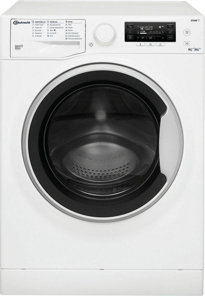 BAUKNECHT Waschtrockner WATK Pure 96L4 DE N, 9 kg, 6 kg 1400 U/min