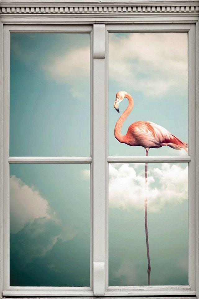 queence Wandsticker »Flamingo«