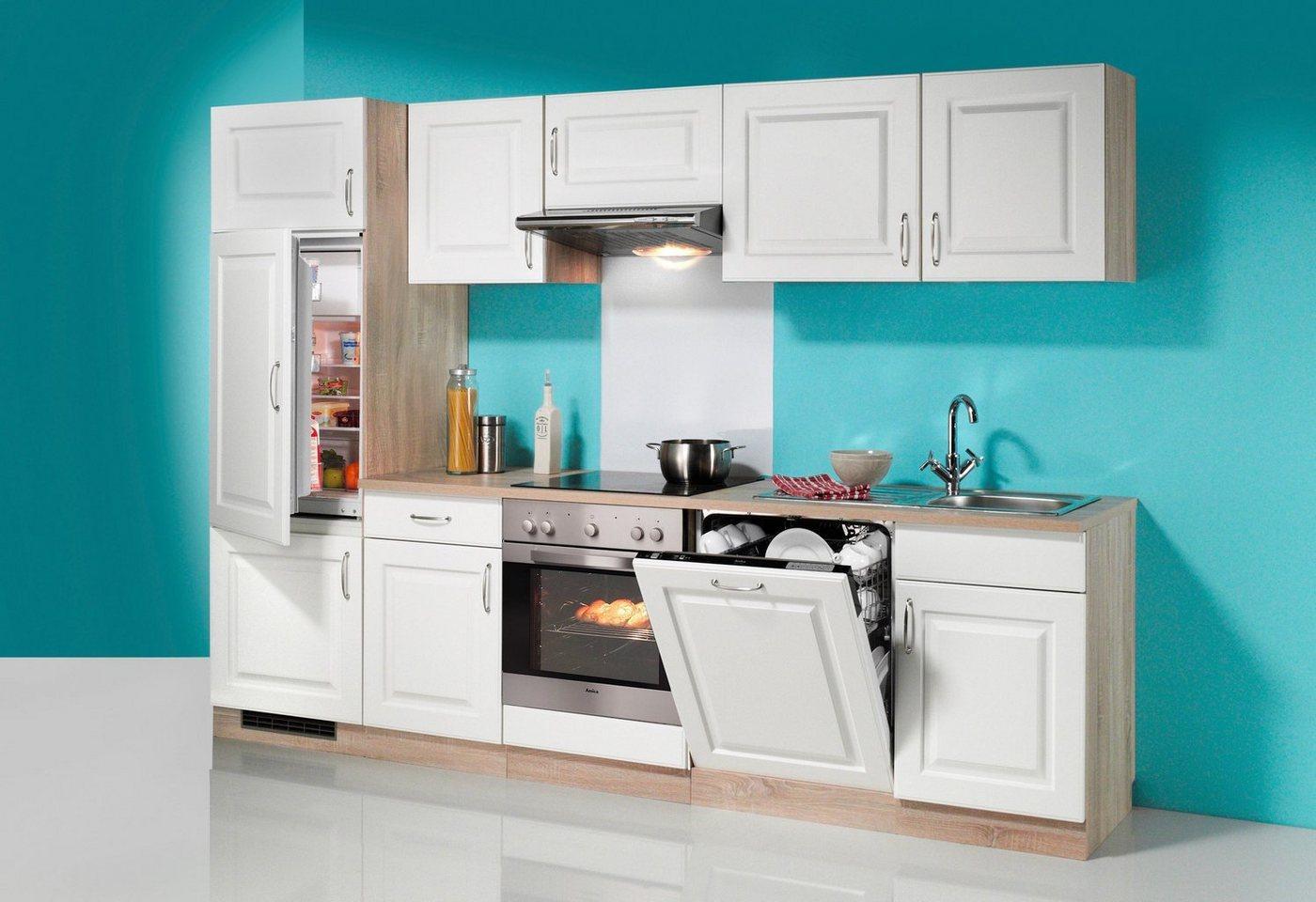 wiho Küchen Küchenzeile »Tilda«, mit E-Geräten, inkl. Geschirrspüler, Breite 280 cm