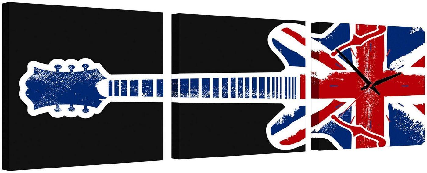 Conni Oberkircher´s Bild »English Guitar«, Gitarre (Set), mit dekorativer Uhr