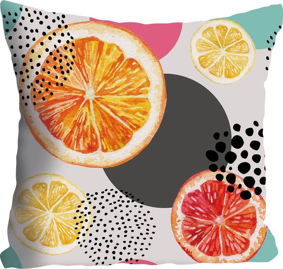 Kissenhülle »Julia«, queence (1 Stück), mit Orangen und Zitronen