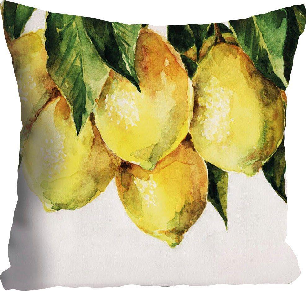 Kissenhülle »Philipp«, queence (1 Stück), mit Zitronen