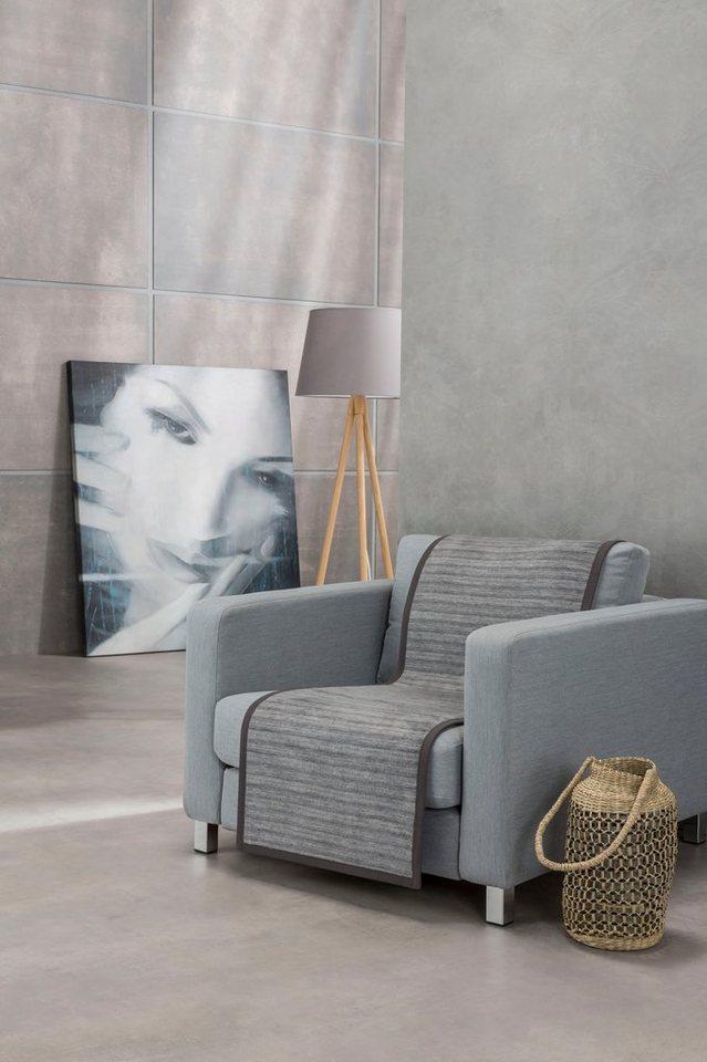 Sesselschoner »Fano« IBENA, mit modernen Streifen, grau