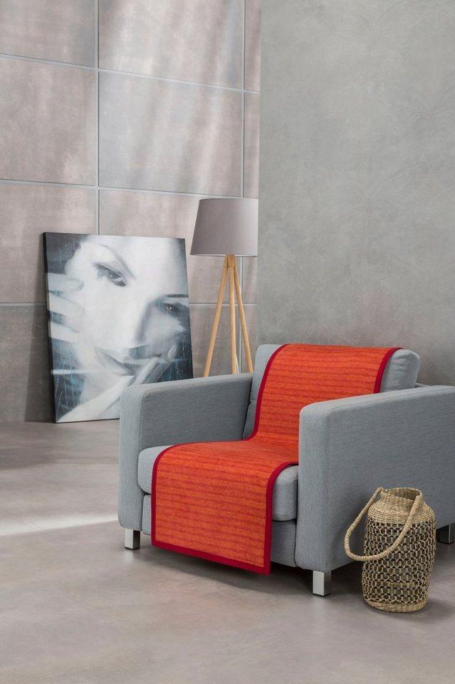 Sesselschoner »Fano« IBENA, mit modernen Streifen, rot