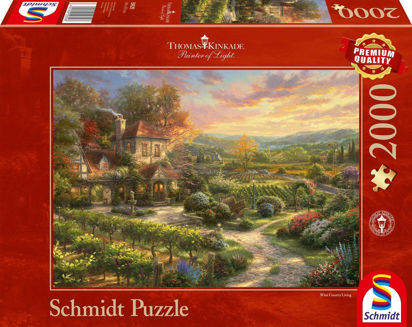 Schmidt Spiele Puzzle »In den Weinbergen«, 2000 Puzzleteile, Thomas Kinkade