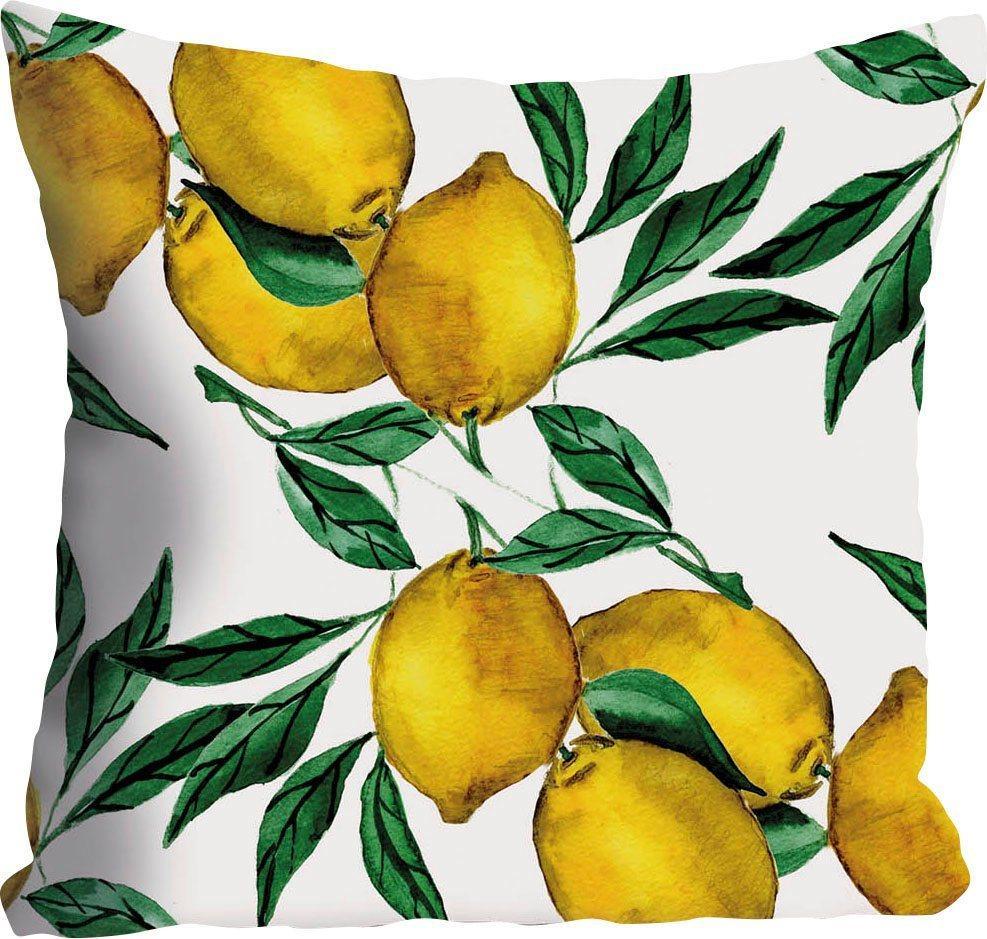 Kissenhülle »Mike«, queence (1 Stück), mit Zitronen