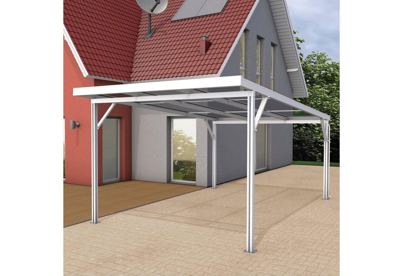 GUTTA Einzelcarport »Premium«, 200 cm Einfahrtshöhe, BxT: 309x562 cm, Dacheindeckung Acryl klar, weiß