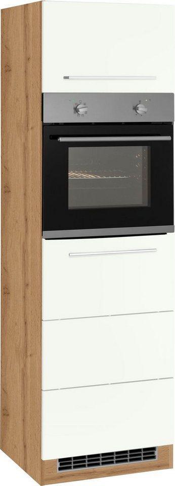 HELD MÖBEL Backofenumbauschrank 60 cm breit, 200 cm hoch, für autarken Backofen, weiß