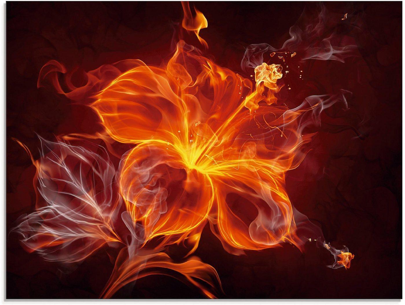 Artland Glasbild »Feuerblume«, Blumen (1 Stück)