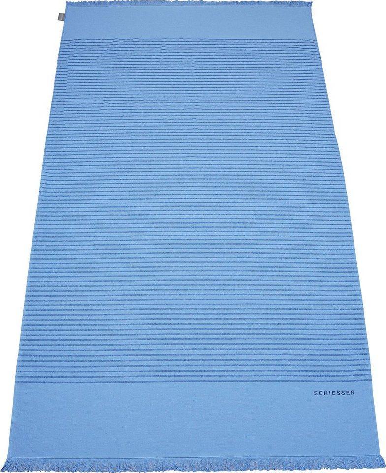 Schiesser Hamamtücher »Rom« (1-St), blau