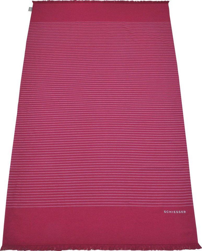Schiesser Hamamtücher »Rom« (1-St), rosa