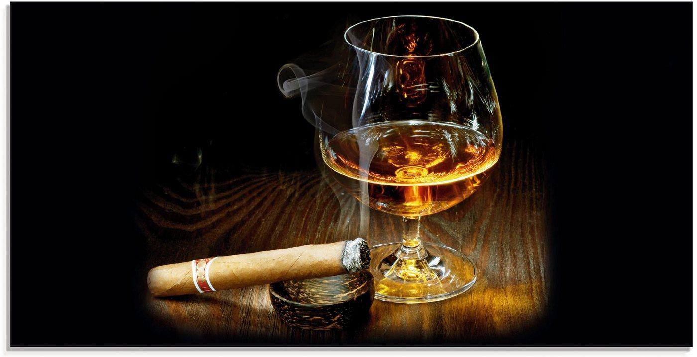 Artland Glasbild »Zigarre und Cognac«, Zigarren (1 Stück)