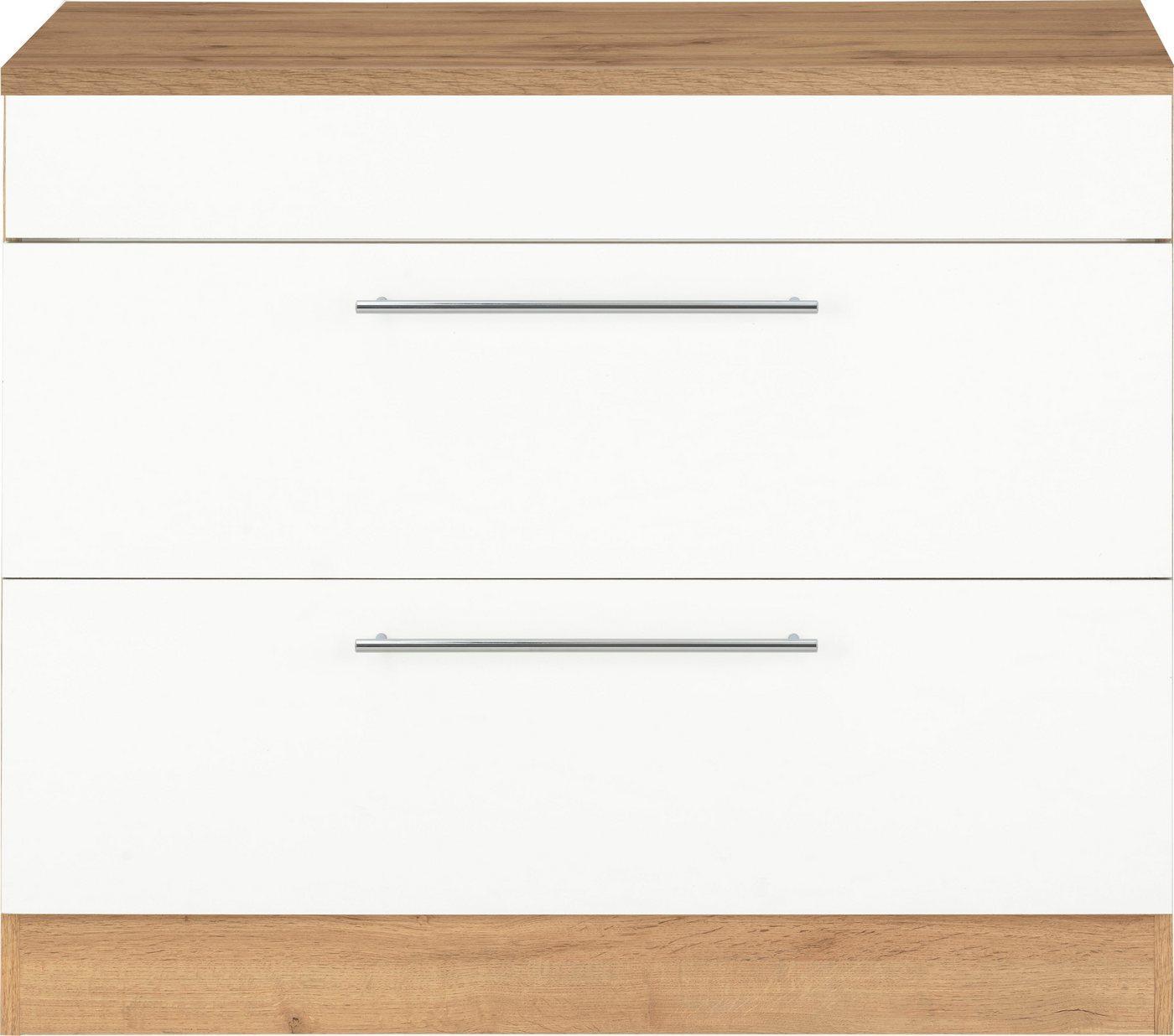 HELD MÖBEL Unterschrank »Wien« 100 cm breit, auch als Kochfeldumbauschrank nutzbar, weiß
