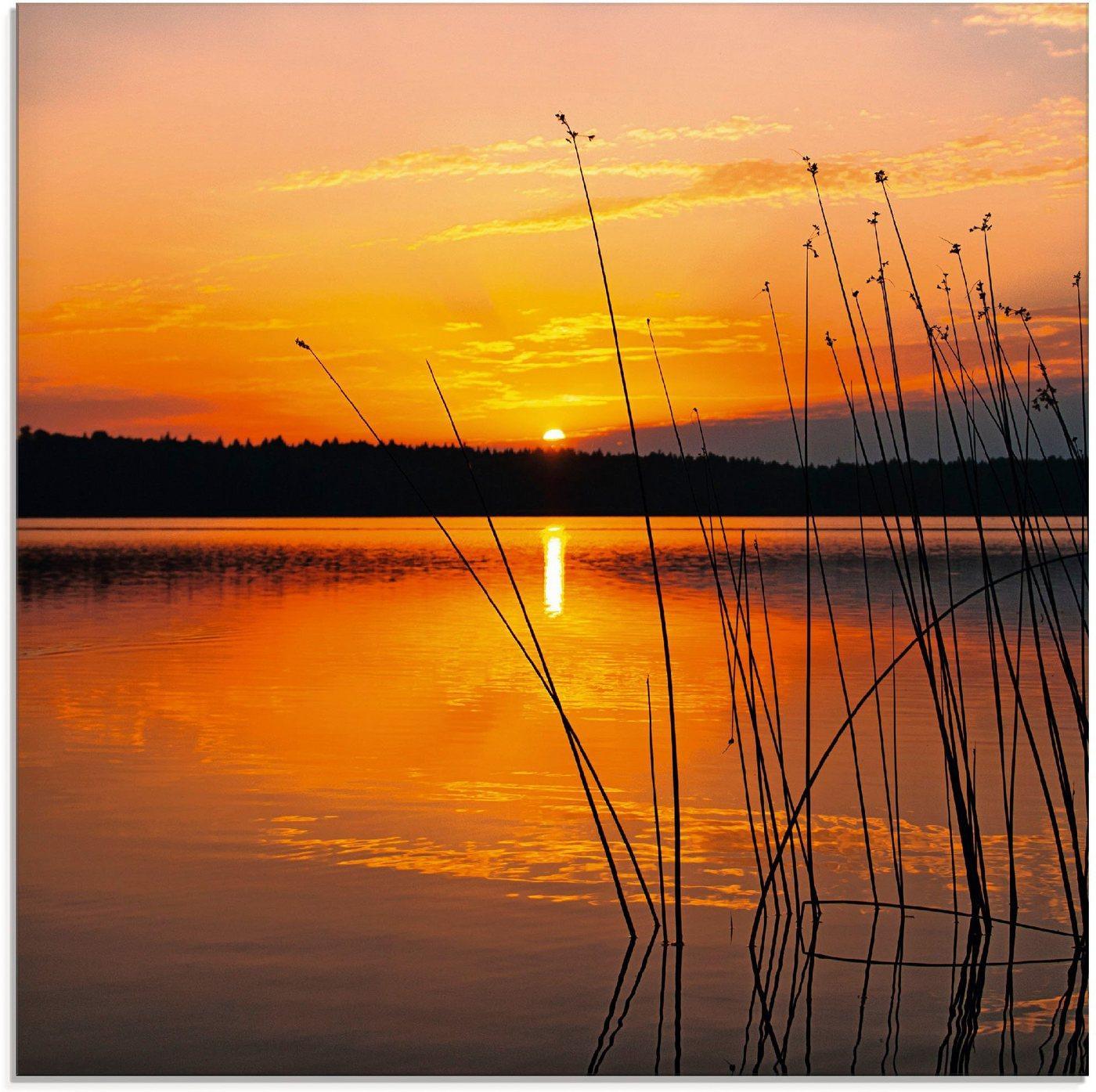 Artland Glasbild »Landschaft mit Sonnenaufgang«, Sonnenaufgang & -untergang (1 Stück)