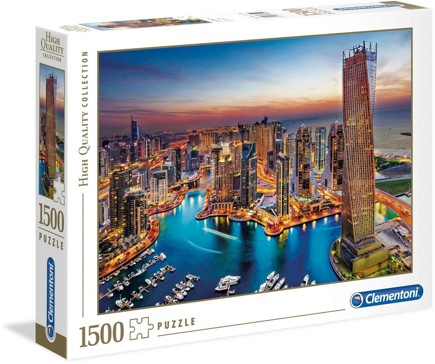 Clementoni® Puzzle »High Quality Collection - Yachthafen von Dubai«, 1500 Puzzleteile, Made in Europe