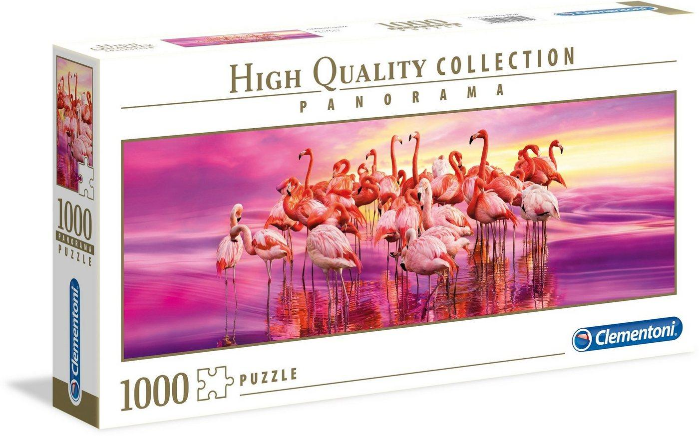 Clementoni® Puzzle »Panorama High Quality Collection - Tanz der Flamingos«, 1000 Puzzleteile, Made in Europe
