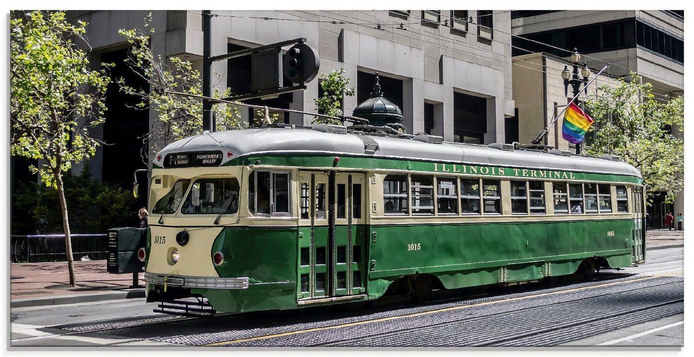 Artland Glasbild »Historische Straßenbahn in San Francisco«, Züge (1 Stück)