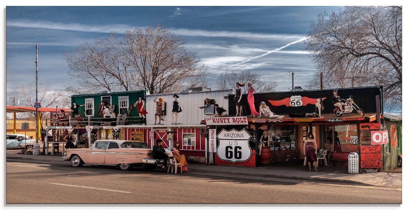 Artland Glasbild »Historische Route 66 in Seligman«, Amerika (1 Stück)