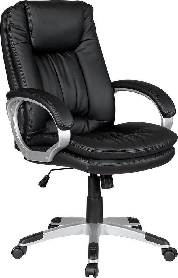 SalesFever Schreibtischstuhl, Drehstuhl, bequemer Chefsessel