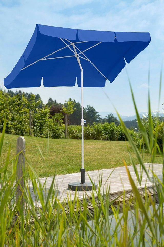 Schneider Schirme Sonnenschirm »Ibiza«, LxB: 180x120 cm, ohne Schirmständer, blau